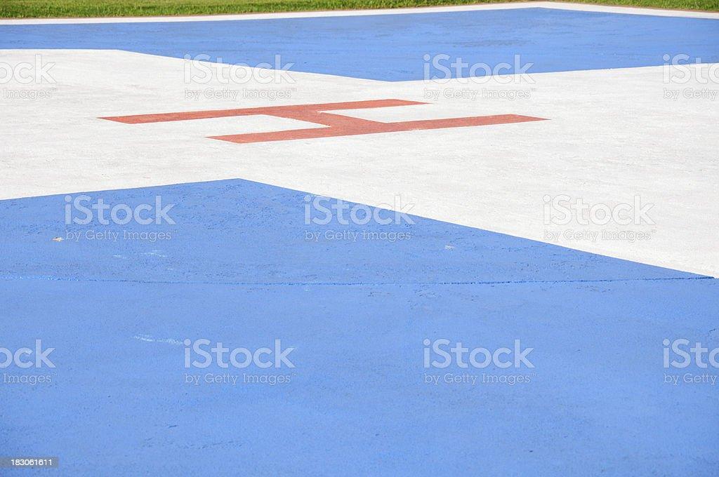 Medivac landing area royalty-free stock photo