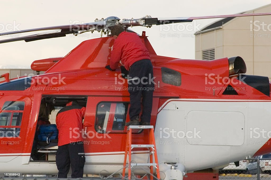 Medivac or Life flight Helicopter royalty-free stock photo