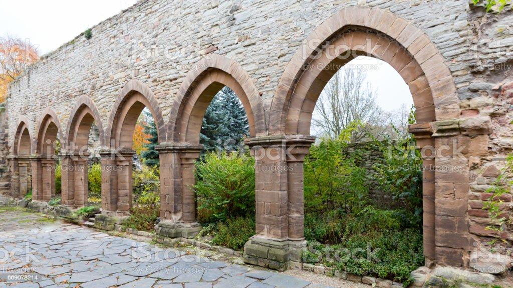 medival ruins in germany stock photo
