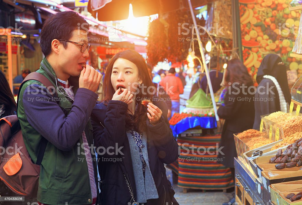 Medjool Dates Taste stock photo