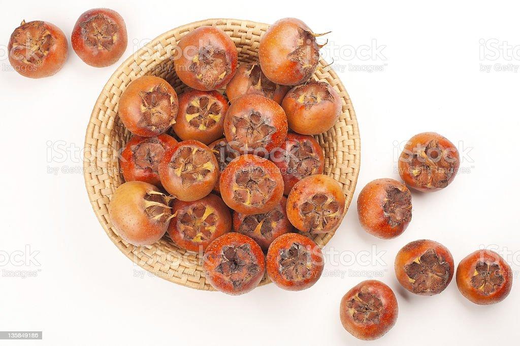 Medlar Fruit - Mespilus Gremanicus stock photo