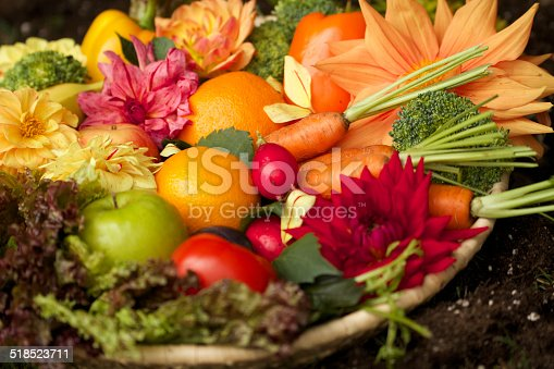 istock Medley of fruits and vegetables 518523711