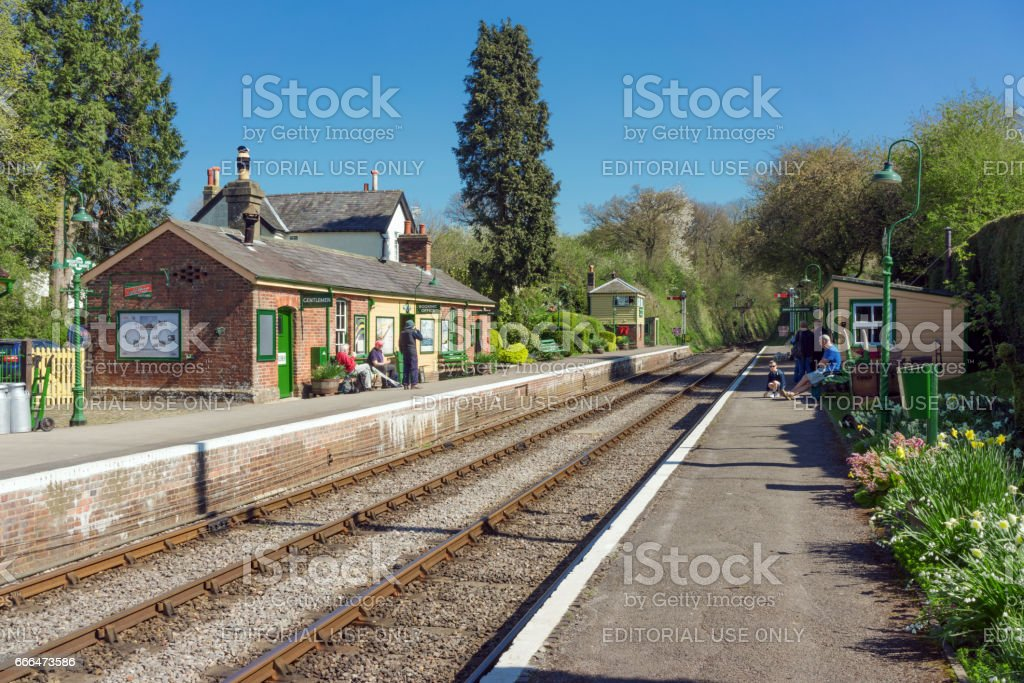 Medstead railway station in Hampshire, UK stock photo