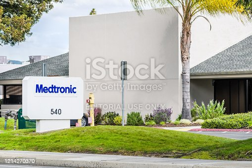 Mar 22, 2020 Sunnyvale / CA / USA - Medtronic headquarters in Silicon Valley; Medtronic Plc is one of the largest global medical device companies in the world based on revenues