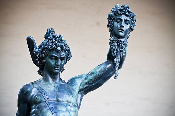 Medusa and Perseus by Benvenuto Cellini in Florance stock photo