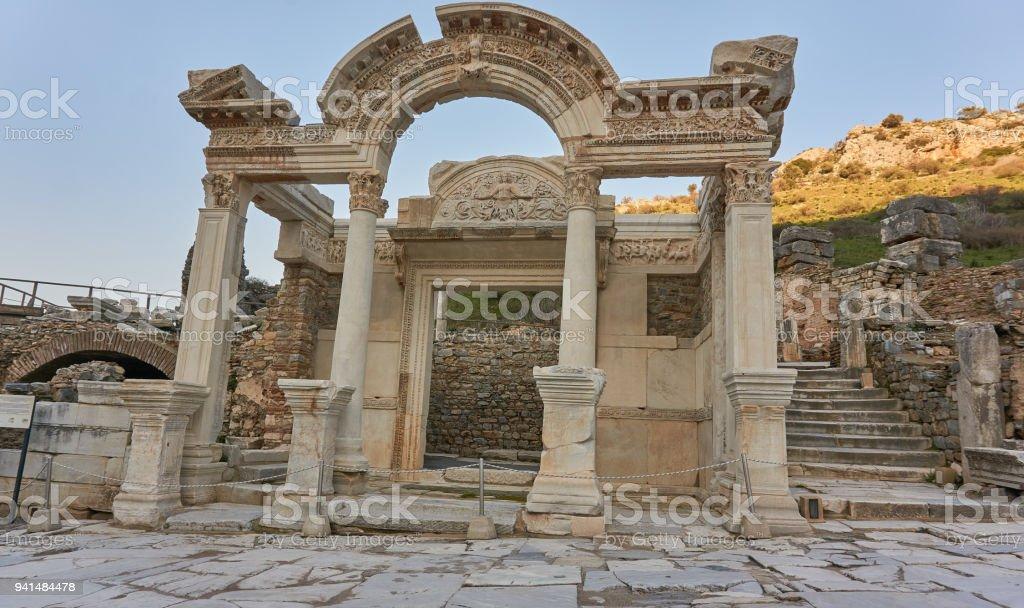 Medusa in Ephesus, Turkey stock photo