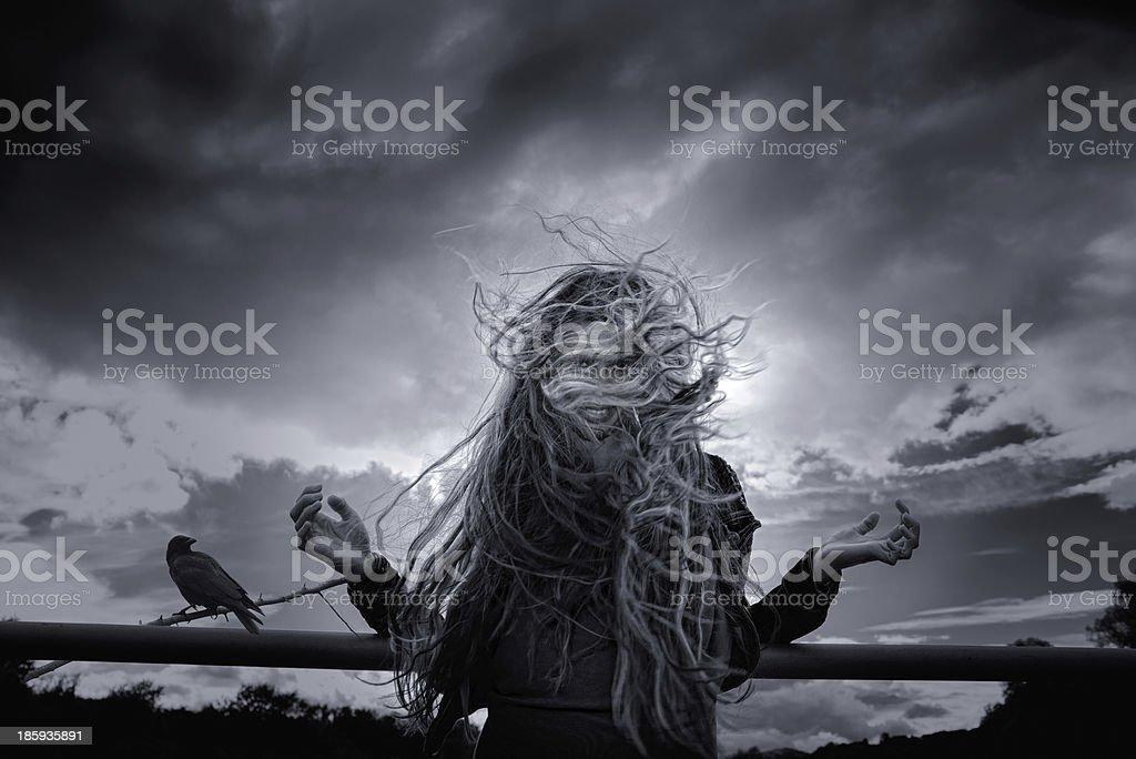 Medusa is borne stock photo