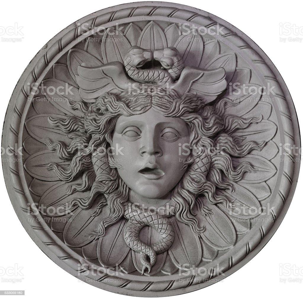 Medusa medallion - Royaltyfri Arkitektoniskt drag Bildbanksbilder