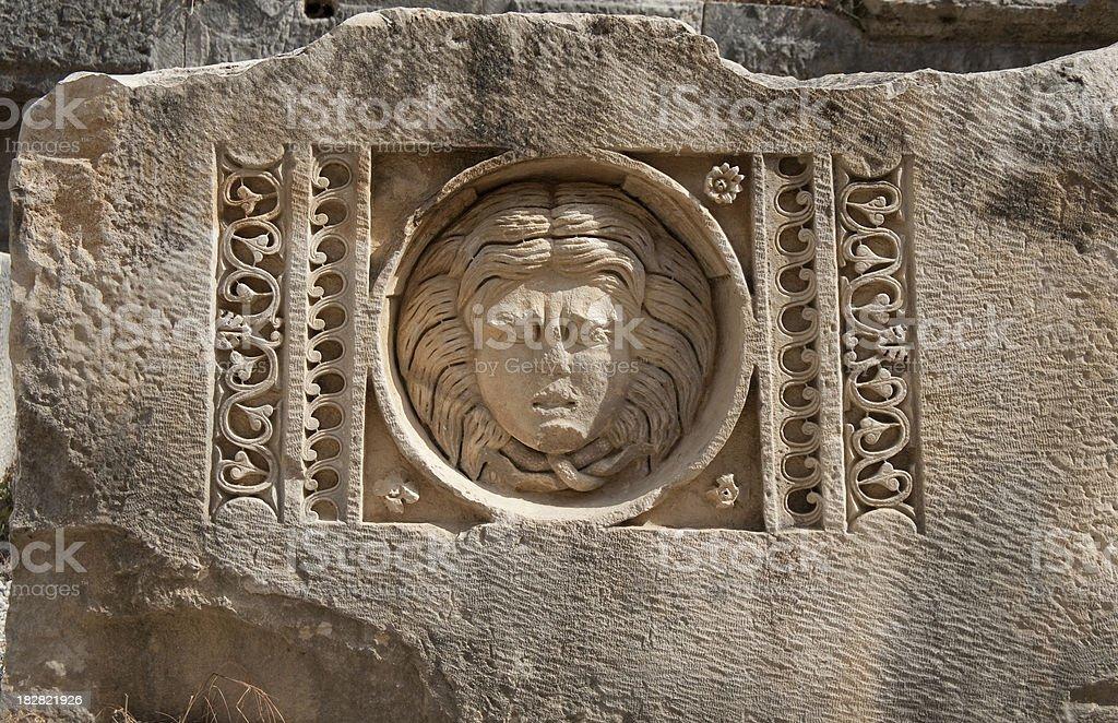 Medusa,  Myra, Antalya royalty-free stock photo