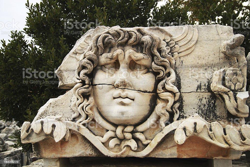 medusa sculpture in Miletos  Turkey royalty-free stock photo