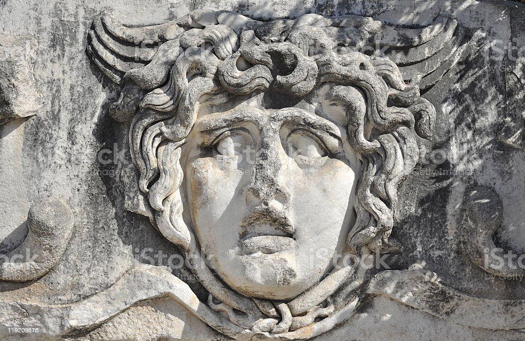 Medusa Statue stock photo
