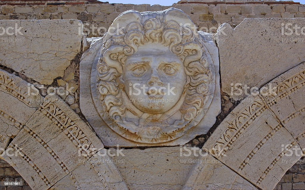 Medussa, Leptis Magna royalty-free stock photo