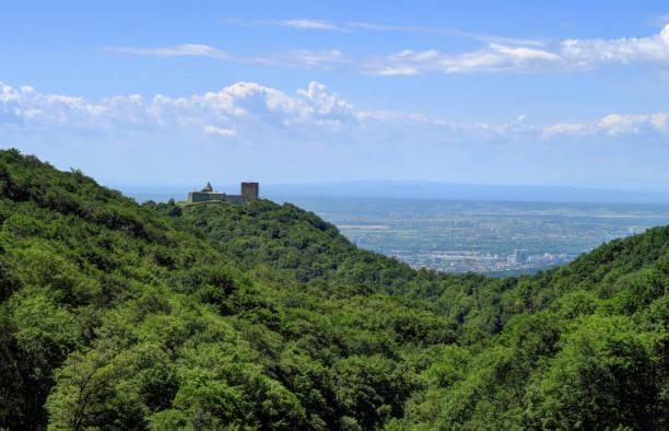 Medvedgrad Castle on a hilltop, overlooking Zagreb, Croatia stock photo