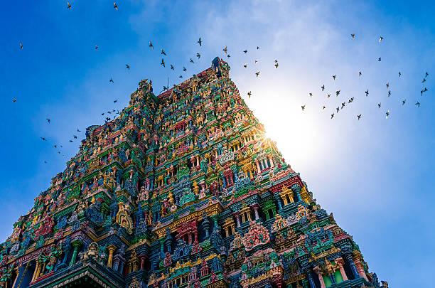 meenakshi hindu temple in madurai, tamil nadu, south india - mumbai stockfoto's en -beelden