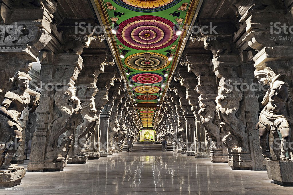 Meenakshi hindu temple royalty-free stock photo