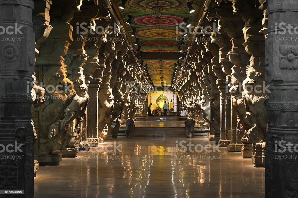 Meenakshi Sundareswarar Temple. India, Madurai stock photo