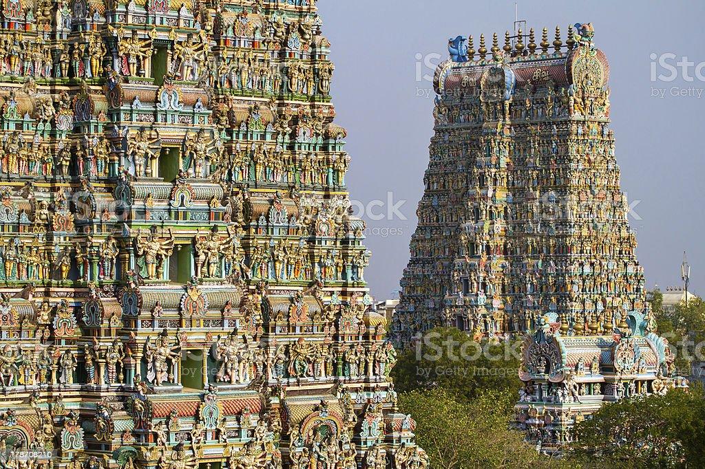 Meenakshi temple in Madurai stock photo