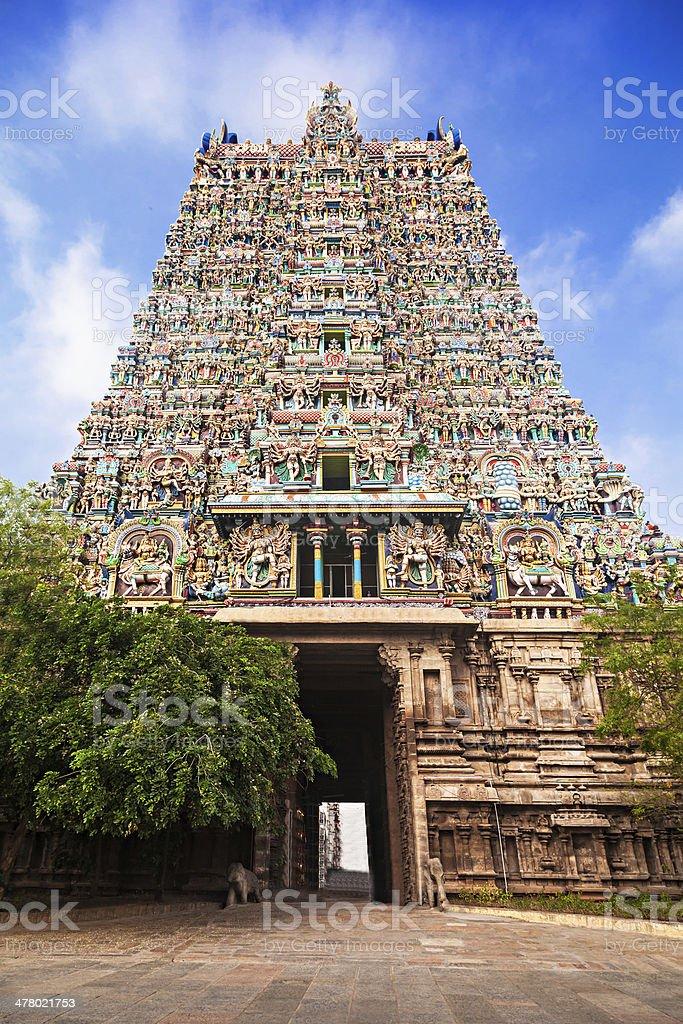 Meenakshi Temple stock photo