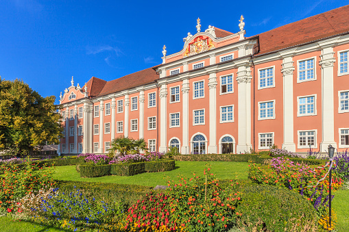 Meersburg, Germany - September 26, 2014: The New Castle of Meersburg is a Baroque building built between 1712 and 1760 as residency of Constance Prince Bishops. Now it hosts a museum, as well as temporary exhibitions, concerts and conferences.
