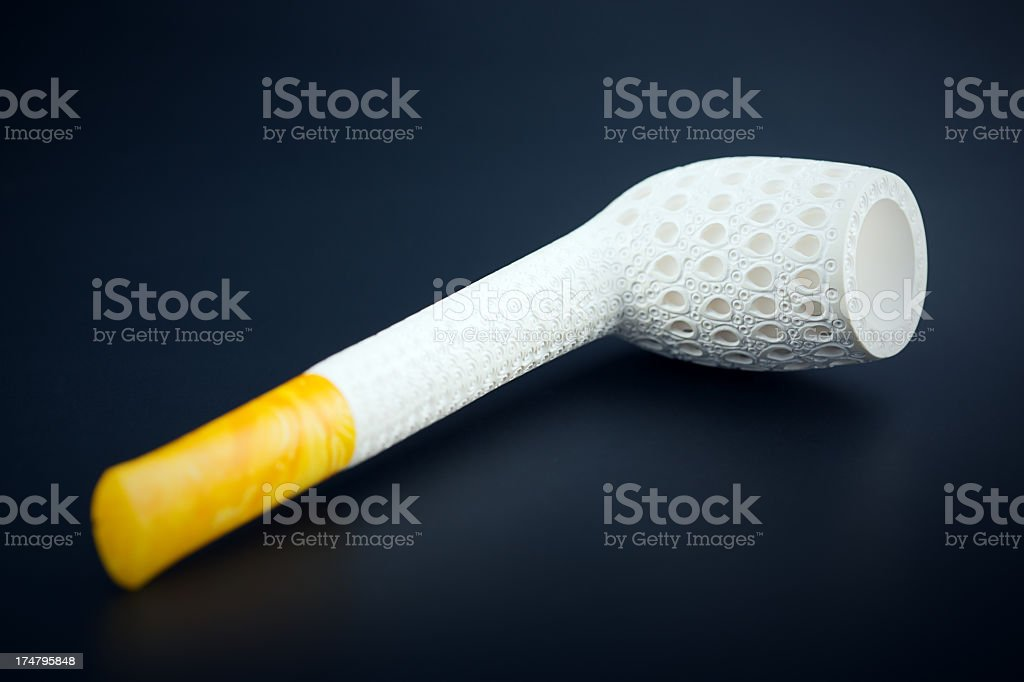 Meerschaum smoking pipe royalty-free stock photo