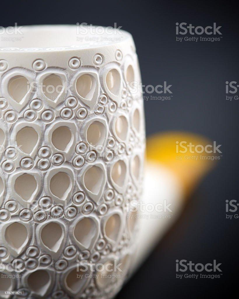 Meerschaum smoking pipe royalty-free stock photo