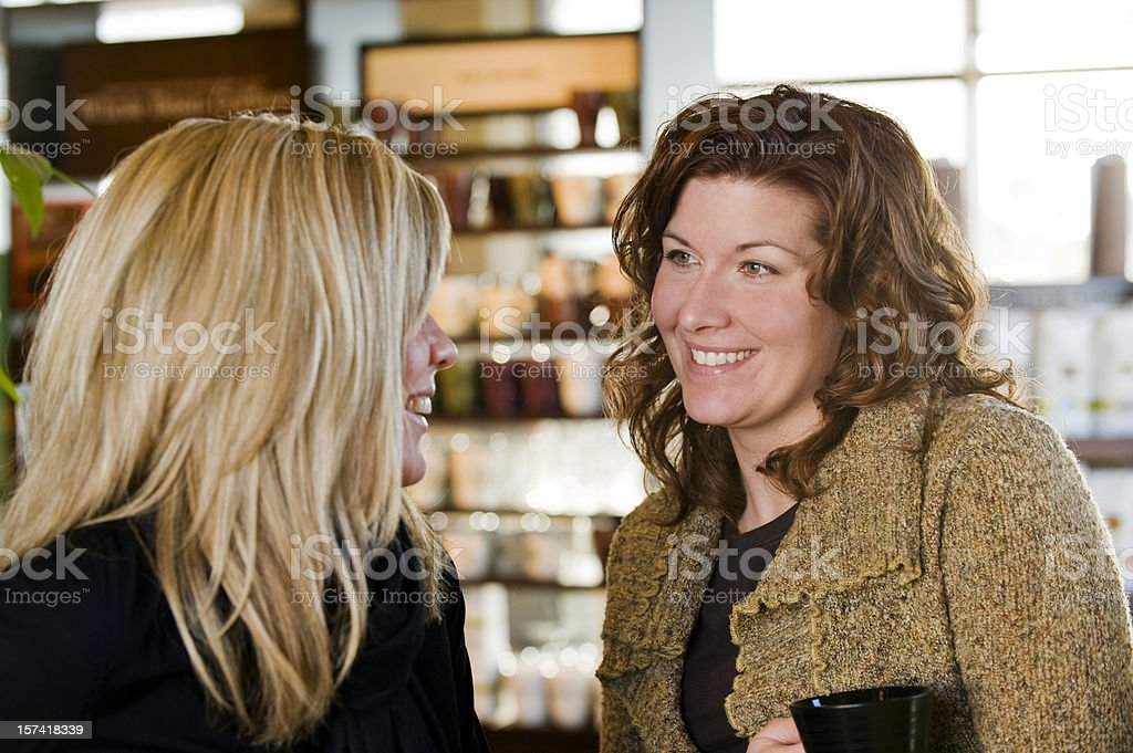 Meet for coffee royalty-free stock photo