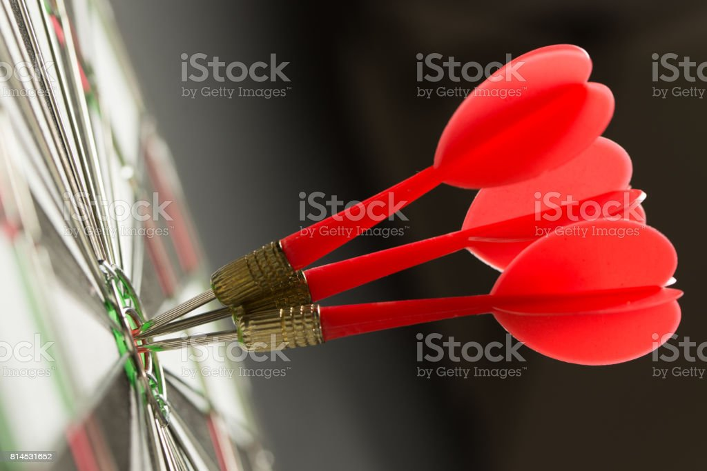Meet target or consistency concept stock photo