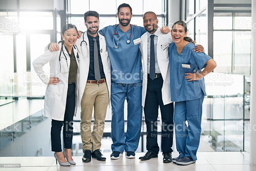 Meet the members of your medical team stock photo