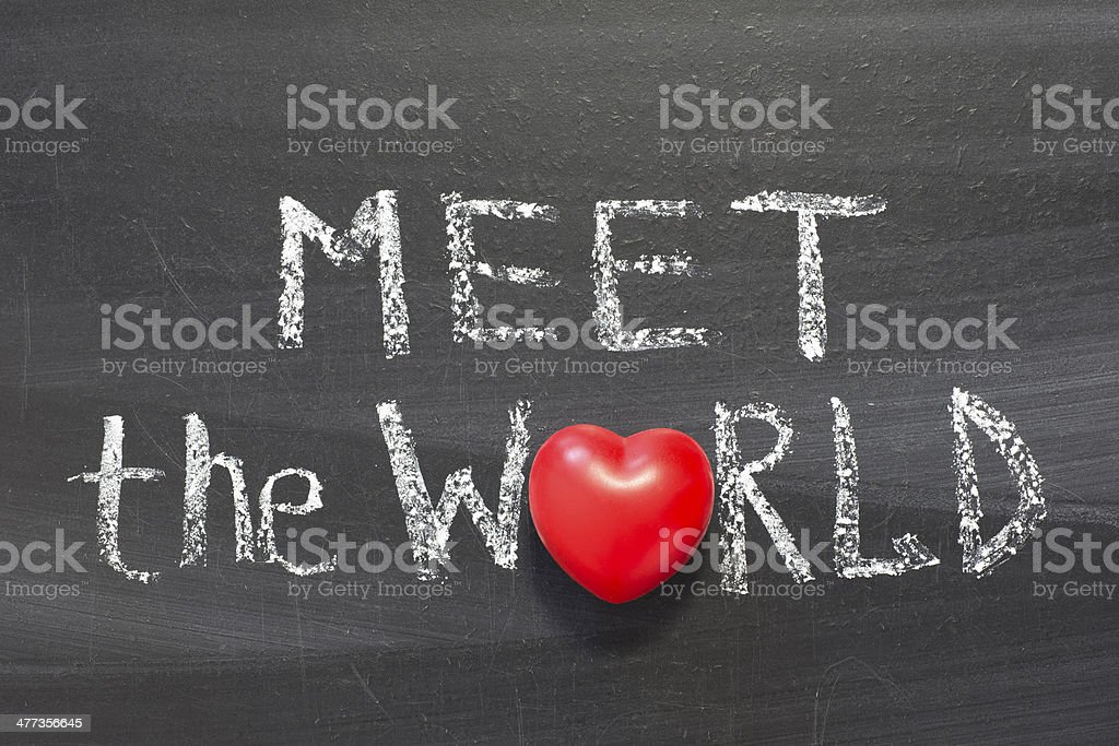 meet the world royalty-free stock photo