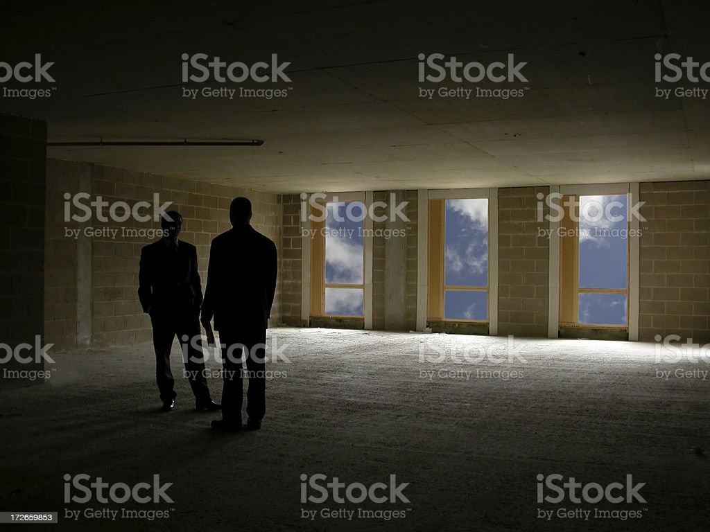 Meeting - A quiet word stock photo