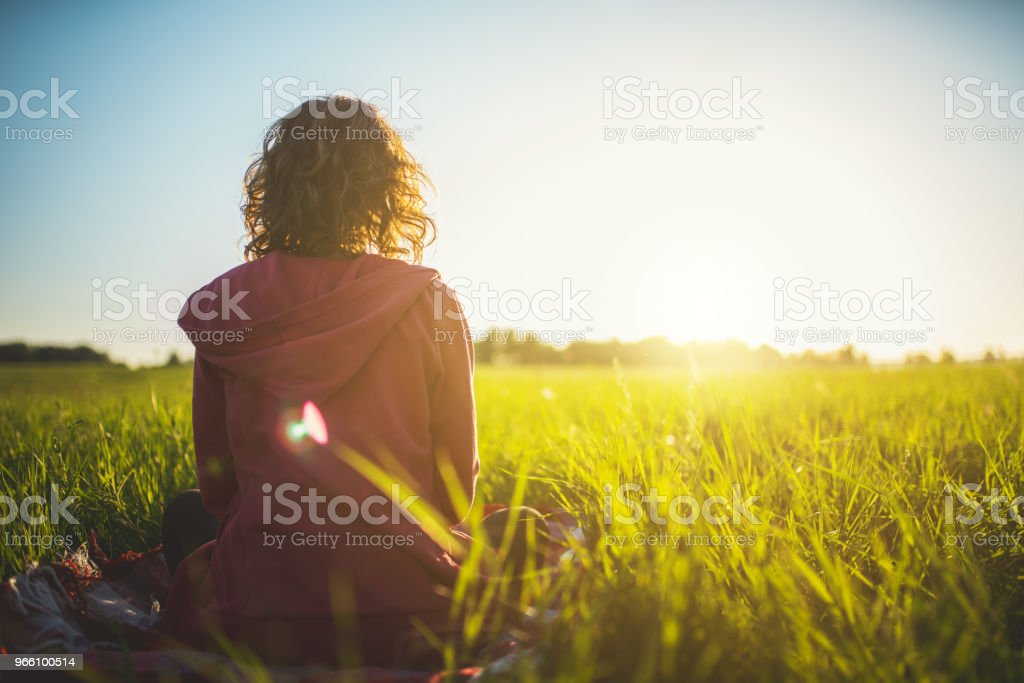 Meeting a sunrise - Royalty-free Adulto Foto de stock