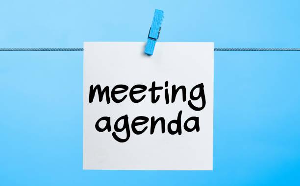 Meeting agenda Concept stock photo