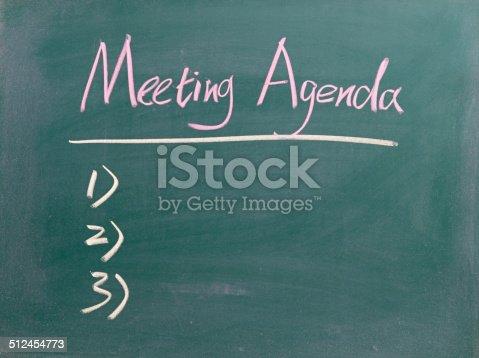 istock Meeting Agenda 512454773