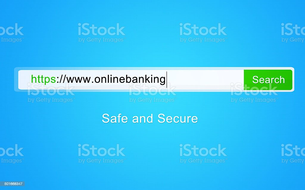 Meeting all your online banking needs stock photo