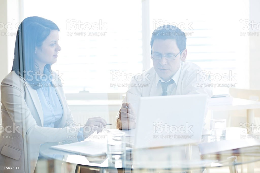 Meeting at office royalty-free stock photo