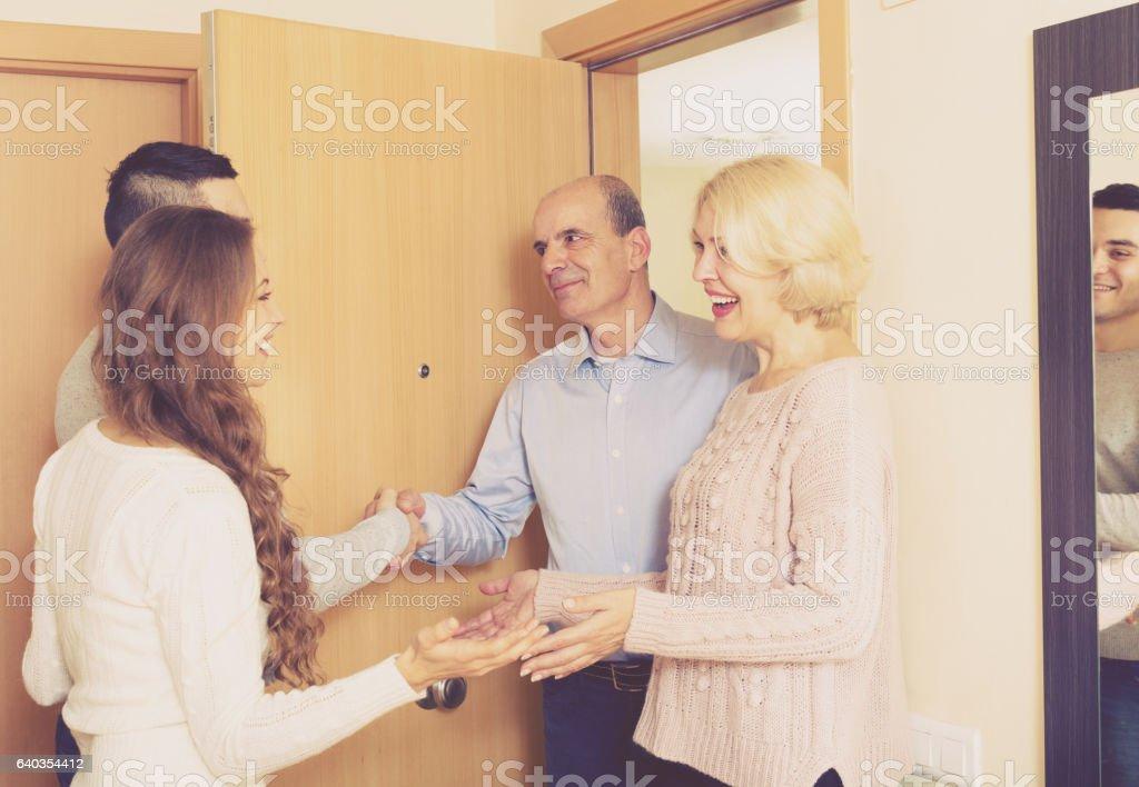 ミーティングのドア ストックフォト