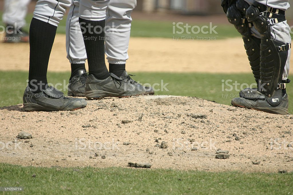 Meeting at the mound royalty-free stock photo
