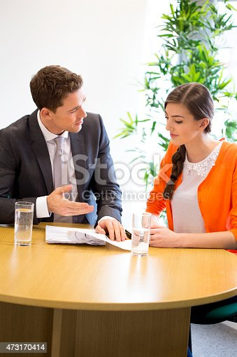 istock Meeting Between Professional and Student 473170414