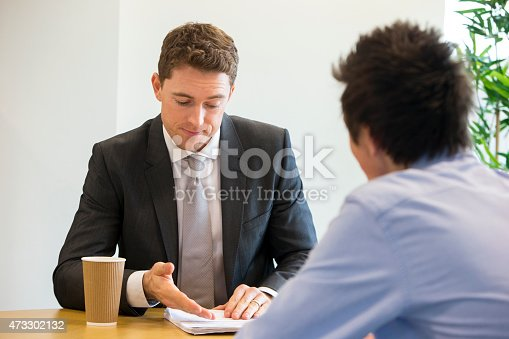 istock Meeting Between Student and Teacher 473302132