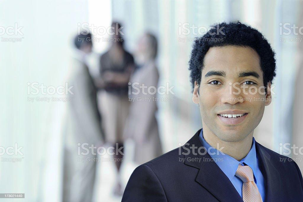 meeting break portrait royalty-free stock photo