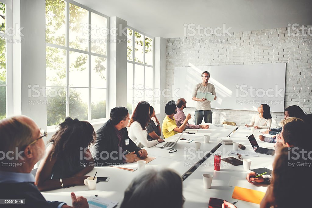 Meeting Business Corporate Business Connection Concept stock photo