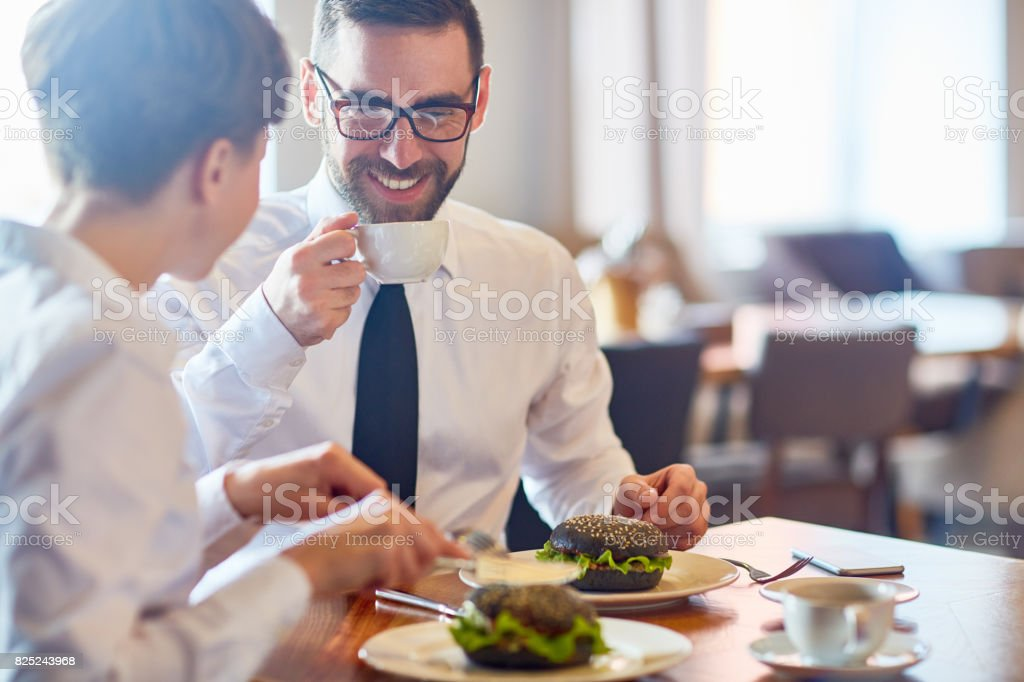 Meeting by lunch foto stock royalty-free