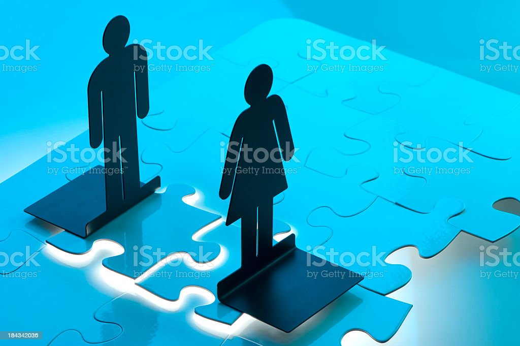 Meeting concept with figures royalty-free stock photo
