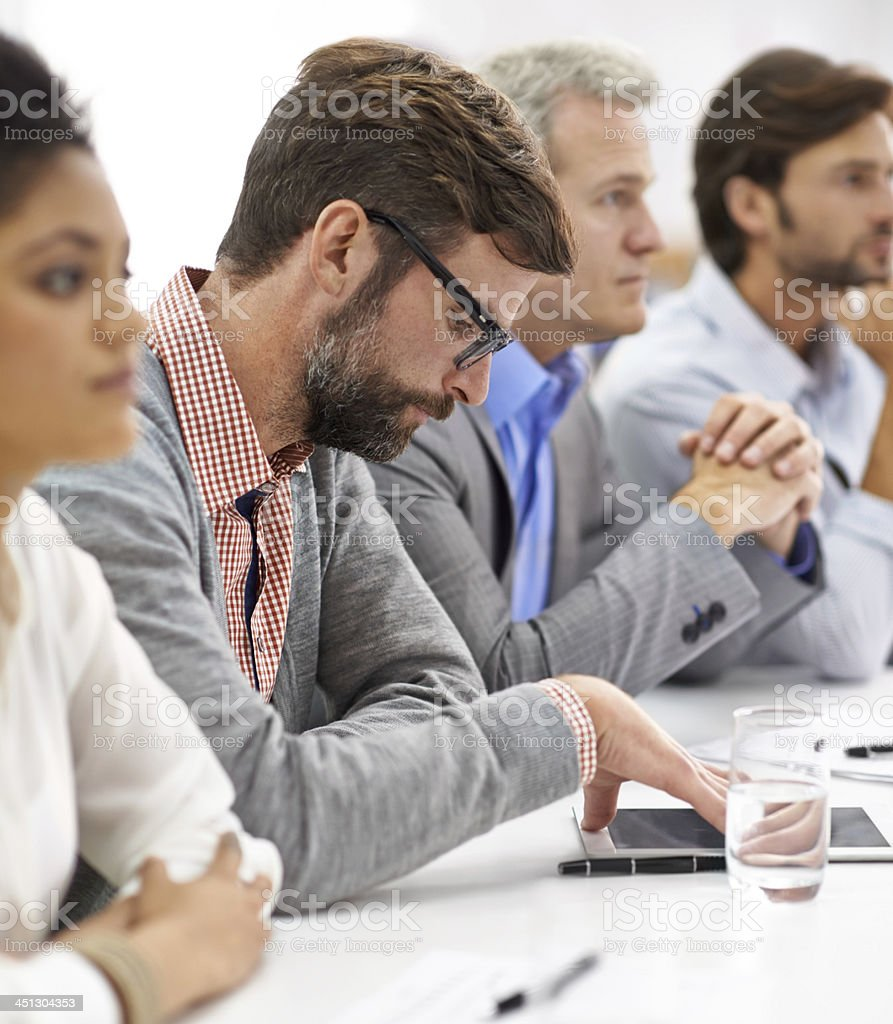 Meeting distractions stock photo