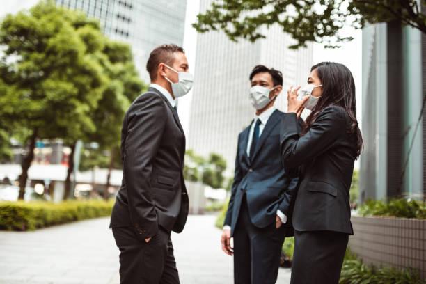 Treffen während des Coronavirus – Foto