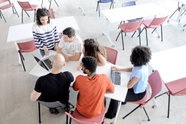 Meeting Education and Technology stock photo