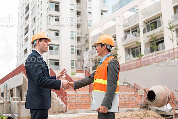 Meeting Engineer Stock Photo - Download Image Now