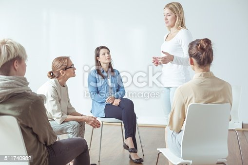 511741068 istock photo Meeting for modern active women 511740982