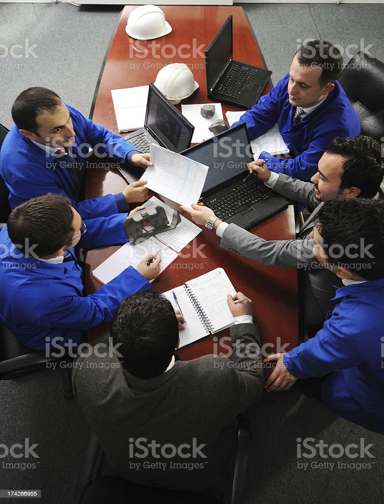 Meeting from above royalty-free stock photo