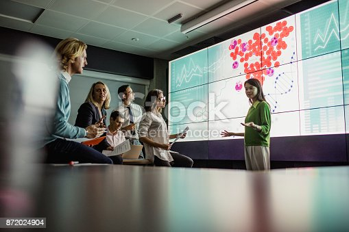 istock Meeting in Front of a Large Display Screen 872024904